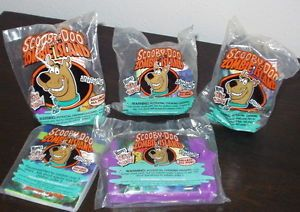 Set of 5 Scooby on Zombie Island Wendy's Kids' Meal Toys New 1998 Vintage