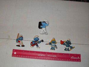 Vintage Smurf Toy Lot Old Kids Brainey Cupid Smurfette Estate Sale Find Gift Yay