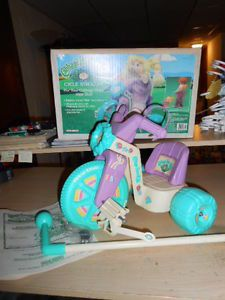 1986 Vintage Cabbage Patch Kids Doll Cycle Bike Stroller 100 w Box RARE