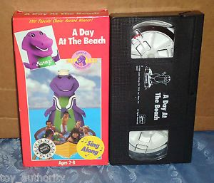 Barney A Day at The Beach VHS Movie Classic Vintage Kids TV Show Sing Sandy