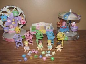 Quint 5SIES Baby Doll Merry Go Round Ferris Wheel Changing Table High Chair Lot