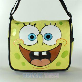 Spongebob Squarepants Face Large Messenger Bag Backpack Boys Kids