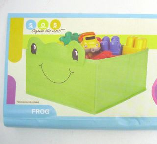 New Green Frog Fabric Storage Bin Great for Kids Room Toys Clothes Organization