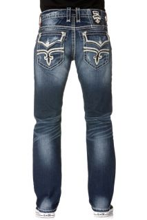 Rock Revival Denim Jeans Mens Eldon Straight Indigo RP9635T4
