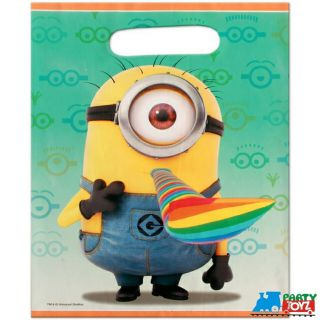 Despicable Me Plastic Loot Bags Candy Party Sacks