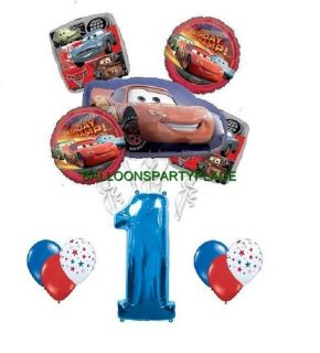Disney Cars McQueen 1st Birthday Party Supplies Balloons Decorations Red First