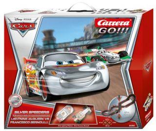 Carrera Go 62302 Disney Pixar Silver Speeders Slot Car Race Track Racing Set New