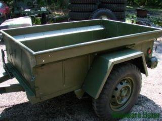 Military Truck Jeep M151 M416 1 4 Ton Utility Cargo Trailer 1967