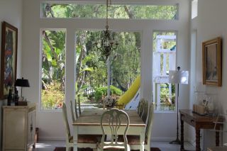 10 Anthropologie Dining Chairs and Free Dining Farm Table