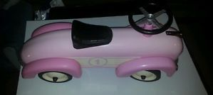 Babystyle Pink Classic Cruiser Ride on Car Toy Hot Rod Toddler Girl