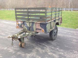 1968 Military Stevens Mfg M105A2 1 1 2 Ton Military Cargo Trailer