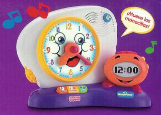 Fisher Price Fun 2 Learn Spanish Educational Clock Toy