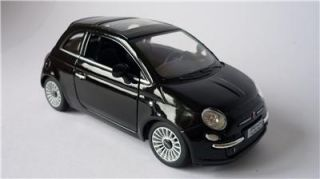 Boys Girls Toy Model Diecast 1 28 Black Fiat 500 Car Opening Doors Present New