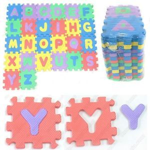 English Alphabet Letter Jigsaw Eva Puzzle Block Tile Pad Mat Kids Toy Play Game