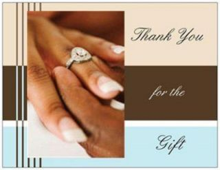 20 African American Thank You Cards Post Cards Wedding Bridal Shower