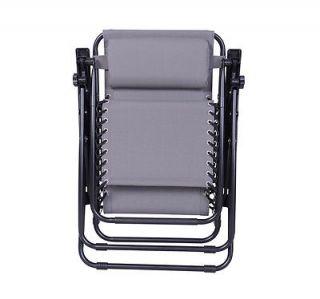 Zero Anti Gravity Lounge Chair Folding Patio Reflexology Recliner Pool Gray