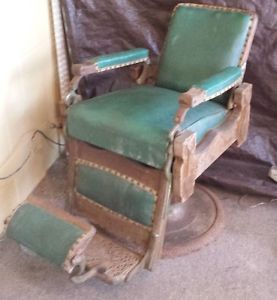 Antique Congress Koken Barbers Chair