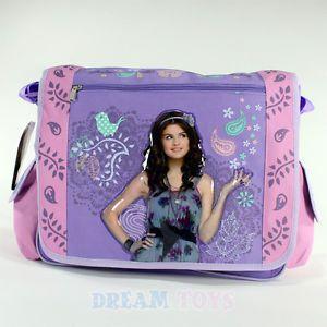 Wizards of Waverly Place Selena Gomez Birds Large Messenger Bag School Girls