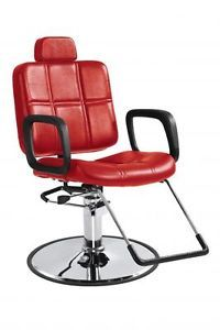 Red Shampoo Styling Hydraulic Barber Chair Hair Beauty Salon Equipment Recling