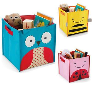 New Folding Canvas Storage Bin Kids Toys Books Clothing Portabl Organizer Box