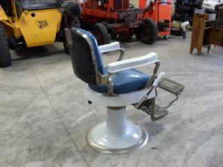 1930 1940's Antique Hercules Barber Chair Headrest
