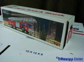 Details about Vintage 1986 Hess Fire Ladder Truck Bank In Original Box