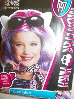Monster High Scaris Catrine Demew Wig Sunglasses for Halloween Costume New