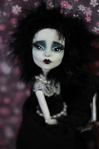 Edwina Scissorhands Monster High OOAK Repaint Emo Horror Gothic Fantasy Art Doll