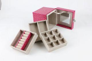 New Princess Square Mini Jewelry Cosmetic Box Ring Storage Box Jewel Cases Gift