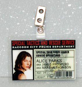 Resident Evil ID Badge Stars Alice Parks