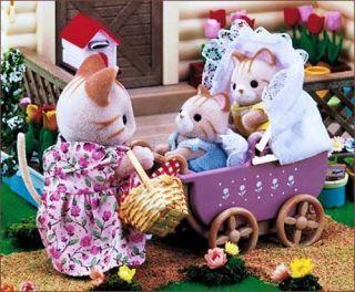 Sylvanian Families JP Ka 205 Baby Carriage Strollers New