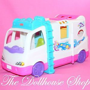 New Beach Vacation Mobile Home RV Campervan Fisher Price Loving Family Dollhouse