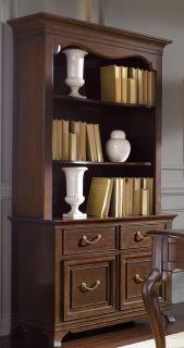 Cherry Queen Anne Cabinet Bookcase
