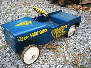 Original Hot Rod Hamilton Jeep Rat Rod Pedal Car