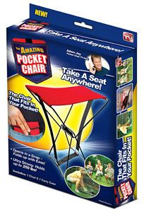 The Amazing Pocket Chair Portable Hiking Seat Brand New Boxed