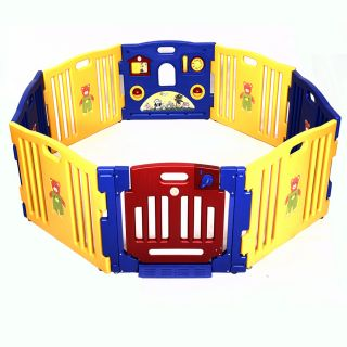 Today S Kids 6 Colorful Panel Baby Gate Play Yard