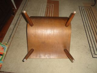 Vtg Mid Century Modern 1950s Carter Bros Scoop Orange Wood Atomic Age Mod Chair
