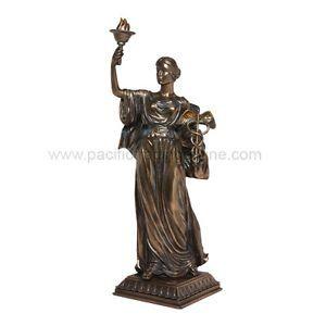 Hygieia Greek Goddess of Health Statue Figurine Sculpture Bronzelike Hygiene