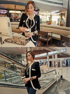 New Women's Autumn Fashion Lady Casual Collarless Slim Suit Blazer Coat Jacket