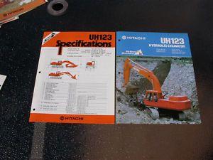 Hitachi Model UH 123 Hydraulic Excavator