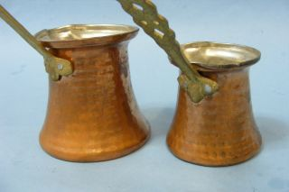 Saudi Arabia Islamic Arabic Set of 2 Coffee Tea Red Copper Pot Finjan Kettle New