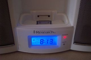 Emerson Research iPod Am FM Alarm Clock Radio Dock