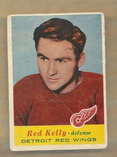 1957 58 Topps Hockey Red Kelly Card 48