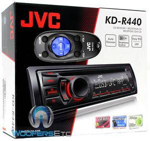 JVC KD R440 CD  Aux USB Remote Car Stereo Receiver 200W Amplifier Radio New