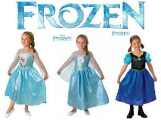 Disney Frozen Princess Anna and Elsa Fanc Dress Up Costumes BNIP 3 8 yrs New