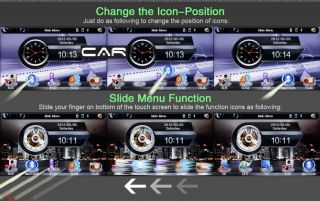 "Radio 1Din Detachable GPS DVD 7"" HD Car Stereo Player Bluetooth USB TV iPod SD"