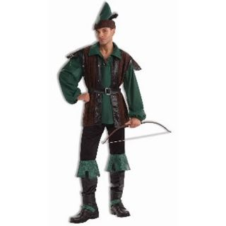 Mens Adult Deluxe Robin Hood Archer Hunter Costume