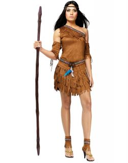 Sexy Native American Indian Princess Dress Women Fancy Halloween Costume Small