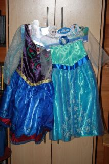 Disney Frozen Anna and Elsa Dress Size 4 6 Dress Up Costume