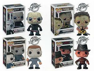 "Funko Horror 3 75"" TV Pop Figures Jason Michael Myers Freddy Krueger Leatherface"